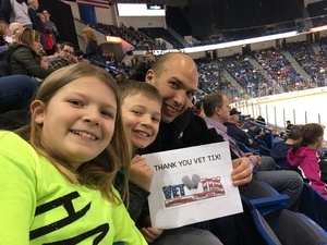 Quint attended Hartford Wolf Pack vs. Wilkes-barre Penguins - AHL on Apr 8th 2017 via VetTix