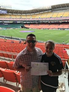Jonathan attended DC United vs. Chicago Fire - MLS - Armed Forces Day on May 20th 2017 via VetTix