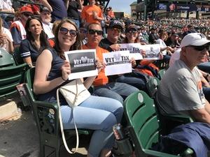 Robert (Gunny) Owens attended Detroit Tigers vs. Boston Red Sox - MLB on Apr 9th 2017 via VetTix