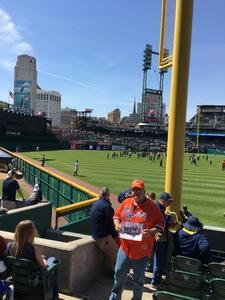Charles attended Detroit Tigers vs. Boston Red Sox - MLB on Apr 9th 2017 via VetTix