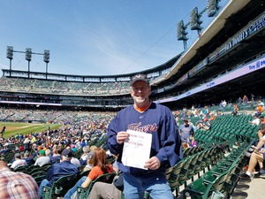 Gregory attended Detroit Tigers vs. Boston Red Sox - MLB on Apr 9th 2017 via VetTix