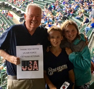 John attended Milwaukee Brewers vs. Cincinnati Reds - MLB on Apr 25th 2017 via VetTix