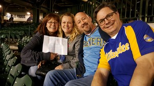 Toni attended Milwaukee Brewers vs. Cincinnati Reds - MLB on Apr 25th 2017 via VetTix