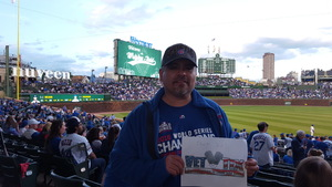 Samuel attended Chicago Cubs vs. Milwaukee Brewers - MLB on Apr 18th 2017 via VetTix