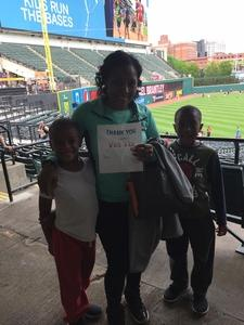 Tiana attended Cleveland Indians vs. Seattle Mariners - MLB on Apr 30th 2017 via VetTix