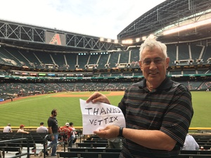Edwin attended Arizona Diamondbacks vs. San Diego Padres - MLB on Apr 27th 2017 via VetTix