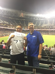 Gregory attended Arizona Diamondbacks vs. San Diego Padres - MLB on Apr 27th 2017 via VetTix