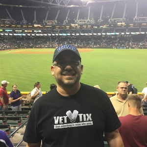 miguel attended Arizona Diamondbacks vs. San Diego Padres - MLB on Apr 27th 2017 via VetTix