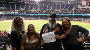 Charles attended Arizona Diamondbacks vs. San Diego Padres - MLB on Apr 27th 2017 via VetTix