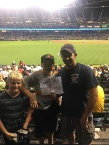 Brent attended Arizona Diamondbacks vs. San Diego Padres - MLB on Apr 27th 2017 via VetTix