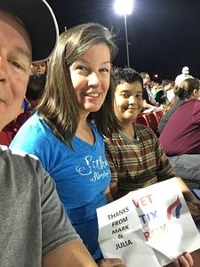Julia attended Phoenix Rising FC vs. Tulsa Roughnecks FC - USL on Oct 4th 2017 via VetTix