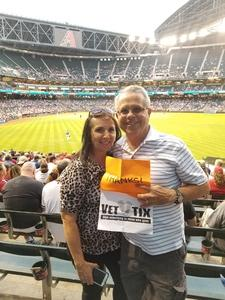 Bruce and Kathy attended Arizona Diamondbacks vs. New York Mets - MLB on May 16th 2017 via VetTix