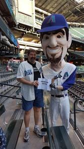 Jeffrey attended Arizona Diamondbacks vs. New York Mets - MLB on May 16th 2017 via VetTix