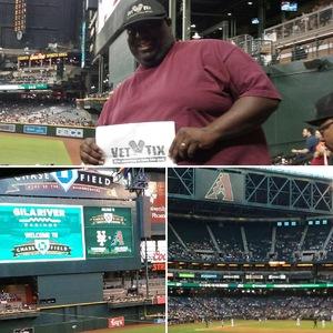 John Graves attended Arizona Diamondbacks vs. New York Mets - MLB on May 16th 2017 via VetTix