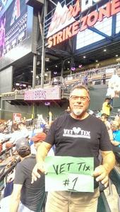 Gerard attended Arizona Diamondbacks vs. New York Mets - MLB on May 16th 2017 via VetTix