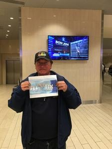 Ted attended Bon Jovi - This House Is Not for Sale Tour on Apr 15th 2017 via VetTix