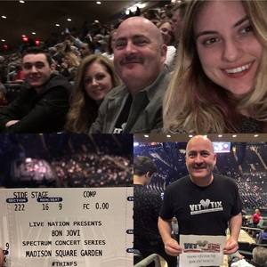chris attended Bon Jovi - This House Is Not for Sale Tour on Apr 15th 2017 via VetTix