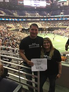 David attended Arizona Rattlers vs. Spokane Empire - IFL on Apr 22nd 2017 via VetTix