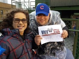 Christopher attended Chicago Cubs vs. Philadelphia Phillies - MLB - Military Appreciation Night on May 1st 2017 via VetTix