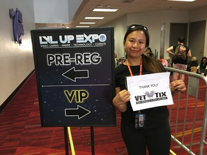Josephine attended Lvl Up Expo - Gaming Convention and Anime on May 12th 2017 via VetTix