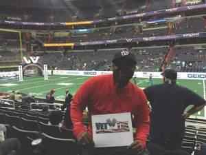 Derrick attended Washington Valor vs. Philadelphia Soul - AFL on Apr 22nd 2017 via VetTix