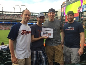 Nick attended Detroit Tigers vs. Baltimore Orioles - MLB on May 17th 2017 via VetTix