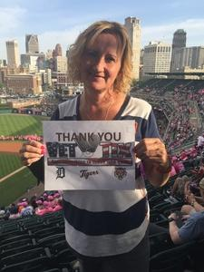 Dawn Brown attended Detroit Tigers vs. Baltimore Orioles - MLB on May 17th 2017 via VetTix