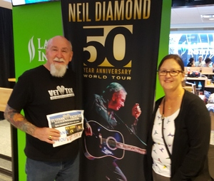Harry attended Neil Diamond - the 50 Year Anniversary World Tour on Apr 23rd 2017 via VetTix