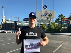 Anthony attended Los Angeles Dodgers vs. San Fransico Giants - MLB on May 2nd 2017 via VetTix