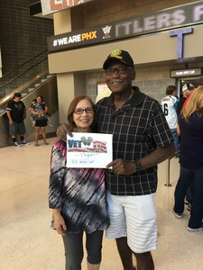 James attended Arizona Rattlers vs. Green Bay Blizzard - IFL on Apr 29th 2017 via VetTix