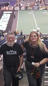 LaVern attended Arizona Rattlers vs. Green Bay Blizzard - IFL on Apr 29th 2017 via VetTix