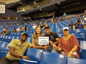Lawrence attended Tampa Bay Rays vs. Kansas City Royals - MLB on May 9th 2017 via VetTix