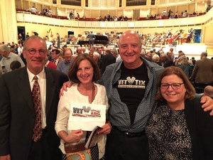 Paul attended Gershwin Piano Concerto and Dvorak Symphony No. 6 - Presented by the Chicago Symphony Orchestra on May 27th 2017 via VetTix