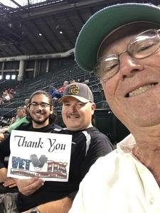 David attended Arizona Diamondbacks vs. Philadelphia Phillies - MLB on Jun 23rd 2017 via VetTix