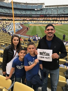 Erich attended Los Angeles Dodgers vs. Pittsburgh Pirates - MLB on May 9th 2017 via VetTix