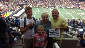 Mikel attended Arizona Rattlers vs. Salt Lake Screaming Eagles - IFL on May 20th 2017 via VetTix