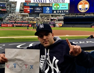 Joe Pro attended New York Yankees vs. Houston Astros - MLB - Dugout Seating on May 11th 2017 via VetTix