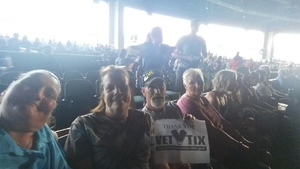John attended Brad Paisley With Special Guest Dustin Lynch, Chase Bryant, and Lindsay Ell on May 19th 2017 via VetTix