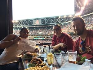 Steven attended Arizona Diamondbacks vs. Milwaukee Brewers - MLB on Jun 10th 2017 via VetTix