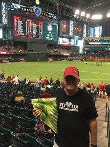 Glenn attended Arizona Diamondbacks vs. Milwaukee Brewers - MLB on Jun 10th 2017 via VetTix