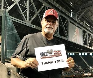 Sidney attended Arizona Diamondbacks vs. Philadelphia Phillies - MLB on Jun 25th 2017 via VetTix
