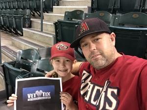 Bryant attended Arizona Diamondbacks vs. Philadelphia Phillies - MLB on Jun 25th 2017 via VetTix