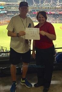 Ronald S. - Mesa, Arizona attended Arizona Diamondbacks vs. Washington Nationals - MLB on Jul 21st 2017 via VetTix