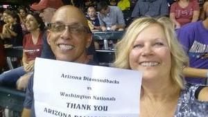 Anthony attended Arizona Diamondbacks vs. Washington Nationals - MLB on Jul 21st 2017 via VetTix