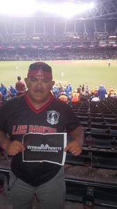 Reza attended Arizona Diamondbacks vs. Atlanta Braves - MLB on Jul 24th 2017 via VetTix