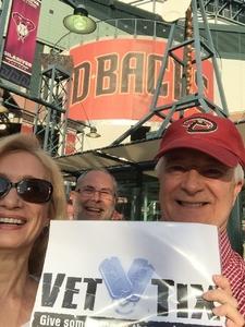 William attended Arizona Diamondbacks vs. Atlanta Braves - MLB on Jul 24th 2017 via VetTix