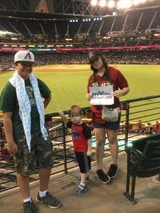 Rogelio attended Arizona Diamondbacks vs. Atlanta Braves - MLB on Jul 24th 2017 via VetTix