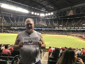 James attended Arizona Diamondbacks vs. Houston Astros - MLB on Aug 14th 2017 via VetTix