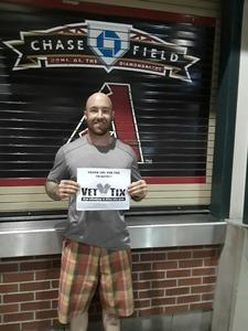 TJ attended Arizona Diamondbacks vs. Houston Astros - MLB on Aug 14th 2017 via VetTix