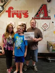 Bruce attended Arizona Diamondbacks vs. Houston Astros - MLB on Aug 14th 2017 via VetTix